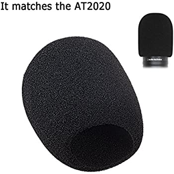 Amazon.com: Acrux7 Foam Microphone Windscreen - Large Size Microphone Cover for Audio Technica ...