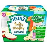 Heinz Fruity Custard Fruit Medley 4-36 Mths 4 x 100g