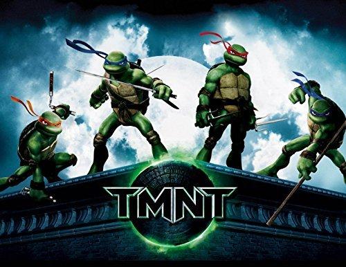 Teenage Mutant Ninja Turtles 90s TMNT Edible Image Photo Sugar Frosting Icing Cake Topper Sheet Birthday Party - 1/4 Sheet - 10797]()