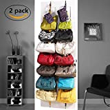 ACCOCO 2-pack Door Hanging Handbag/Purse Organizer, Purse Holder, Purse Hanger, Handbag Organizer Closet Door– Bag Hanger - Bag Organizer - Handbag Organizer