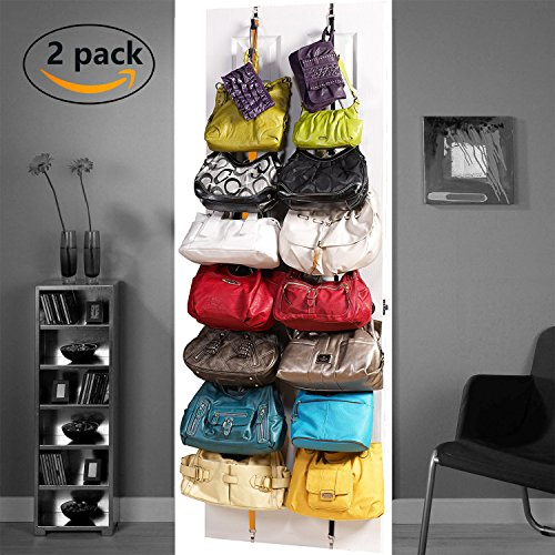 ACCOCO 2-pack Door Hanging Handbag/Purse Organizer, Purse Holder, Purse Hanger, Handbag Organizer Closet Door– Bag Hanger - Bag Organizer - Handbag Organizer by ACCOCO