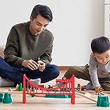 LIAN Track Building Block Train Electric car Children's Toys Wooden Blocks