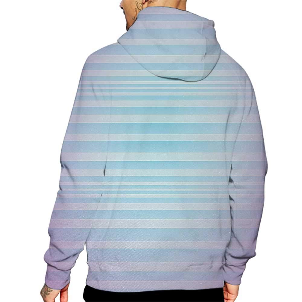 Hoodies Sweatshirt/Men 3D Print Modern,Abstract Rising Colors Motif with Minimalist Effects and Striped Concept Artwork,Blue Purple Sweatshirts for Women Hoodie Pullover