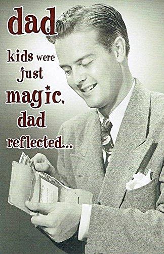 Hanson White Dad Birthday Card Old Fashioned Man Checking Wallet