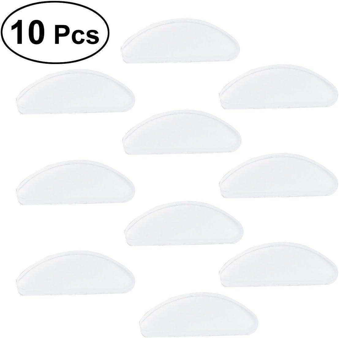 rosenice Protector de nariz de gafas vasos adhesivos de silicona antideslizante Nose Pads 10pcs (blanco)