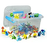 Idesire Lots 144pcs Pokemon Pikachu Monster Action Figures Multicolor 2-3CM