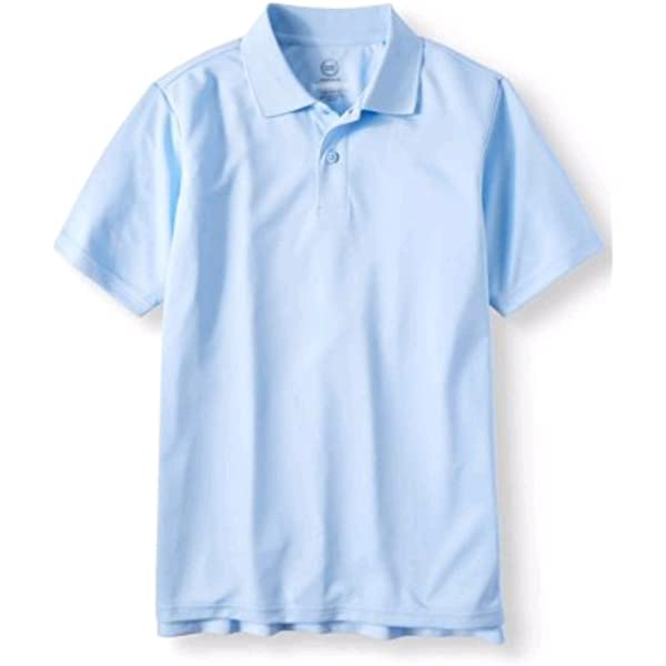 Boys Short Sleeve Shirt School Uniform White Sky Blue