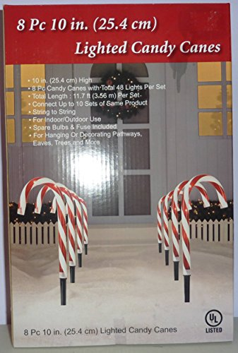 Lighted Candy Canes 8 piece set 10