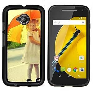 TaiTech/carcasa rígida de madera - umbrela falda madre - niño lindo Motorola Moto E2 E2nd Gen
