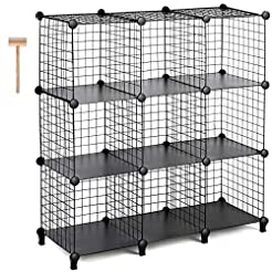 TomCare Cube Storage 9-Cube Metal Wire C...