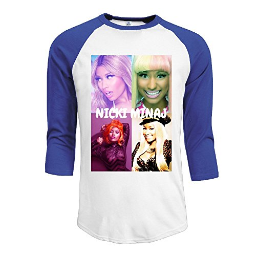 YI Own Men's Funny Nicki Minaj 3/4 Sleeve Baseball T-Shirt RoyalBlue