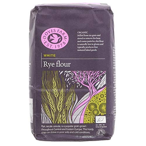 Doves Farm Organic White Rye Flour 2.2 lbs - Pack de 2