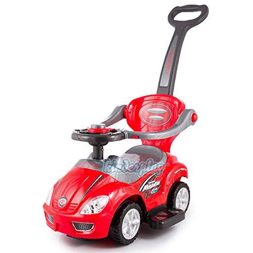RUTSCHAUTO Rutscher Lauflernwagen Rutschfahrzeug ROT Kinderfahrzeug Kinderauto