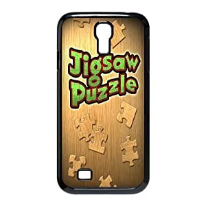 Durable Rubber Cases Samsung Galaxy S4 I9500 Cell Phone Case Black Kjatg Jigsaw Puzzle Protection Cover