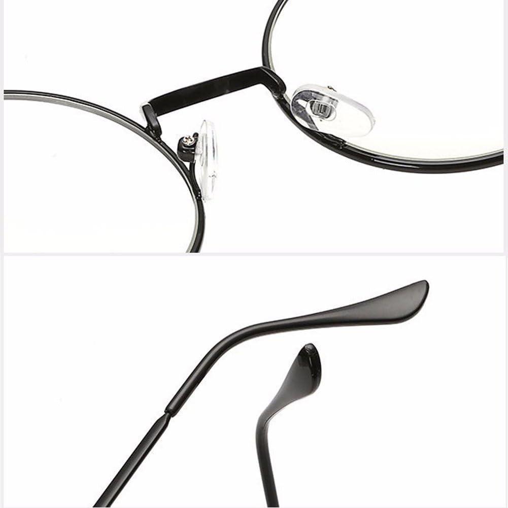 HENGSONG Retro Runde Brille mit Fensterglas Damen Herren Brillenfassung Braun