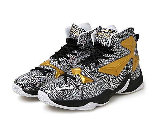 Absorption De Choc Performance N.66 Ville Hommes Chaussures De Course Sneaker Chaussures De Basket-ball Or