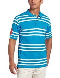 Men's Yarn-Dyed Striped Polo Shirt
