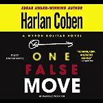 One False Move: A Myron Bolitar Novel   Harlan Coben
