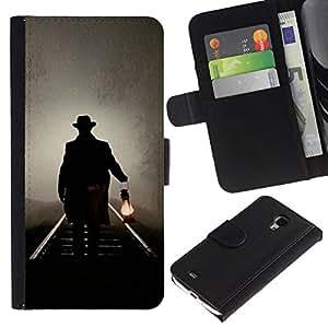 All Phone Most Case / Oferta Especial Cáscara Funda de cuero Monedero Cubierta de proteccion Caso / Wallet Case for Samsung Galaxy S4 Mini i9190 // Lantern Oil Light Night Mysterious
