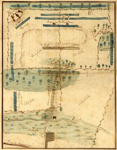 Map: 1861 of the positions of the Fourth Alabama Regt. during the battle of Stone Bridge|Bull Run|1st Battle Of|Va|Manassas|Manuscript - Va Stores In Manassas