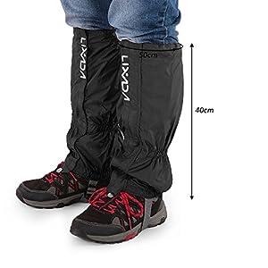 Lixada High Leg Gaiters Waterproof Non-Slip Outdoor Leg Boots Cover Snow Legging Gaiters for Hiking Walking Climbing Hunting (1 Pair)