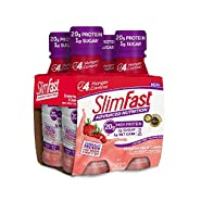 Slim Fast Advanced Nutrition, Meal Replacement Shake, High Protein, Strawberries & Cream, 11 Ounce, 4 Count