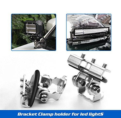 Led Light Bar Mounting Brackets,Rigidhorse 2pcs Universal A Pillar Hood Led Light Bar Mount Bracket Clamp Holder For Jeep Truck