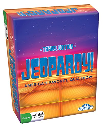 Outset Media Jeopardy the Card Game - Travel Quiz Game With 108 Answers and Questions - Ages 12+ by Outset Media