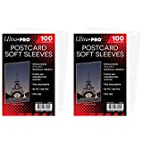 Ultra Pro Postcard Soft Sleeves Ultra Clear, Holds