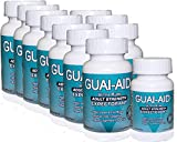 1024 Guai-Aid® 600mg ''Ultra-Pure'' Expectorant Capsules - 10 bottle of 100 Includes & 24 Size Travel Bottle