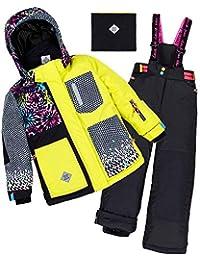 Deux par Deux Girls' 2-Piece Snowsuit Great Escape Sport Yellow, Sizes 4-14