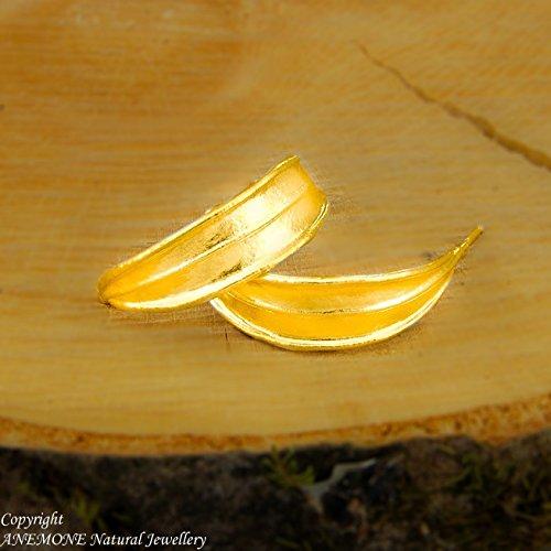 (Handmade,Greek olive leaf,Open Hoop Earrings , Nature Inspired,ANEMONE Natural Jewellery)