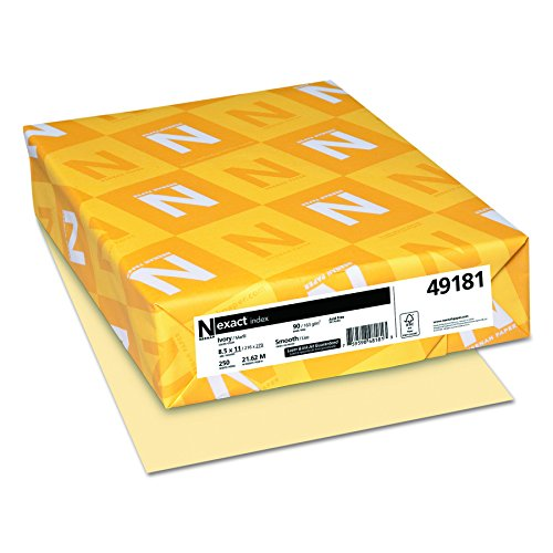 Wausau Exact Index Cardstock, 90 lb, 8.5 x 11 Inches, Pastel Ivory, 250 Sheets (49181) ()