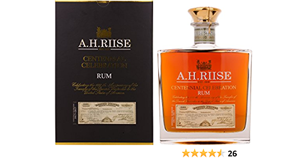 AH Riise Limited Edition Centennial Celebration Rum - 700 ml