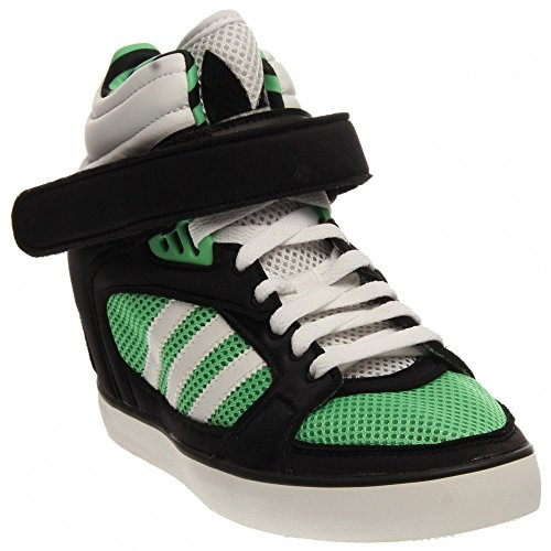 adidas Originals Women's Amberlight Up Sneakerwedge Tropic Green/White/Black Sneaker 7.5 B (M)