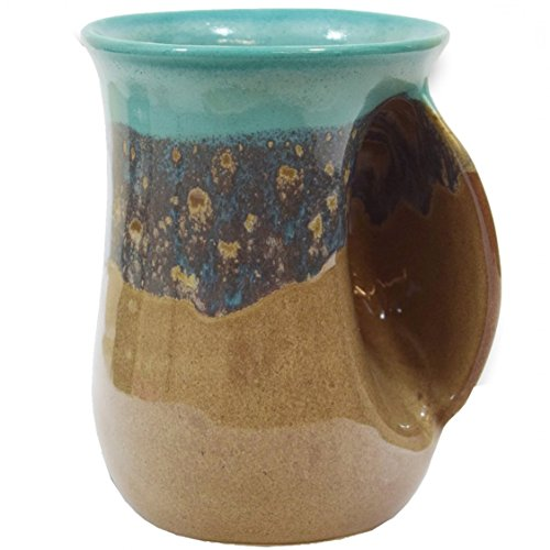 Clay in Motion Handwarmer Mug - Island Oasis - Right ()