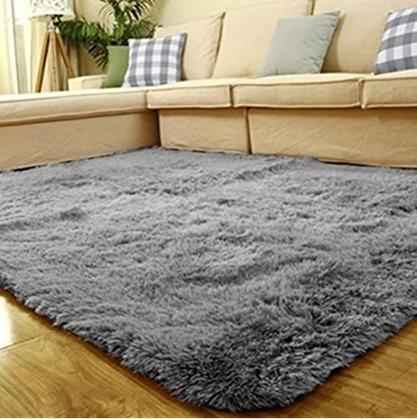 microfibra suave para ba/ño ba/ñera o dormitorio con relleno de agua microfibra beige de pelo largo RMane Alfombrilla de ba/ño antideslizante 40 x 60 cm ducha