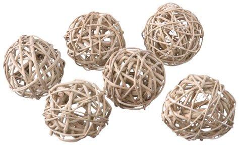 Super Bird Creations 8cm Munch Balls Bird Toy, 6-Pack