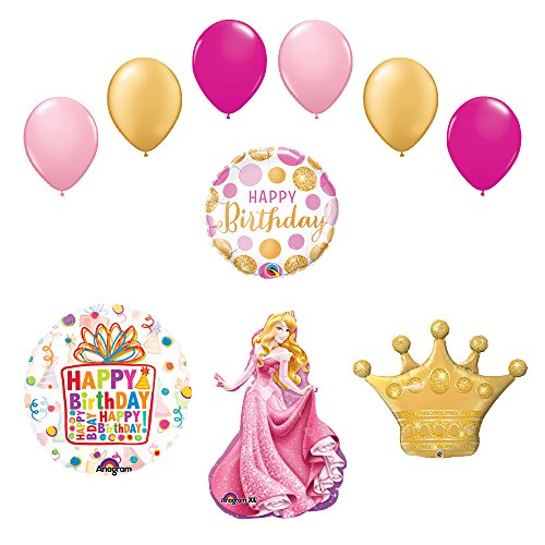 Sleeping Beauty Crown Princess Balloon Birthday Party Supplies and Decorations