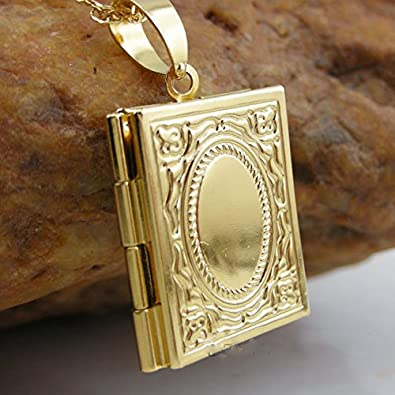 Classic 18k gold plated fashion muslim allah locket book locket classic 18k gold plated fashion muslim allah locket book locket pendant necklace aloadofball Images