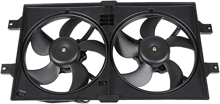SCITOO Radiator Dual Cooling Fan Assembly Compatible with 1999 2000 2001 Chrysler LHS