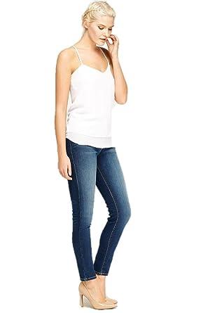 Ex Zara Ladies Skinny Mujer Ajustado Algodón Denim Azul Vaqueros Elásticos: Amazon.es: Ropa y accesorios