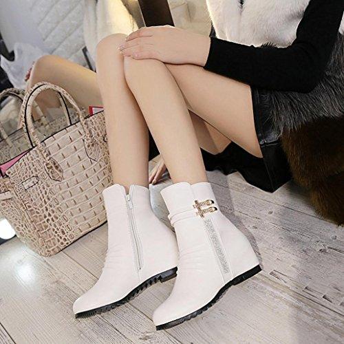 Reißverschlüsse Stiefeletten Damen TM Bunte Komfortable Kunstleder Stiefel Damenmode Sexy Stiefel Weiß ZBwtqfqY