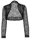 Elegant Lace Crochet Bolero Shrug Cardigan Crop Top for Mom JS49-1 2XL