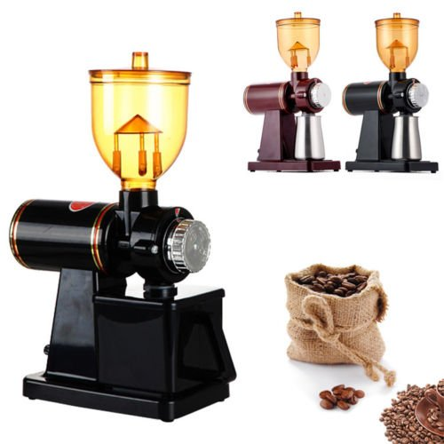 ELEOPTION Electric Coffee Bean Grinder 110V Coffee Bean Powder Machine Fast coffee Maker for Commercial Household Office Use (Black)