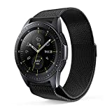 EloBeth Compatible Samsung Galaxy Watch (42mm) Bands, 20mm Milanese Loop Stainless Steel Mesh Strap Replacement Band Magnetic Clasp for Samsung Galaxy SM810/815 Smart Watch 42mm(Midnight Black)