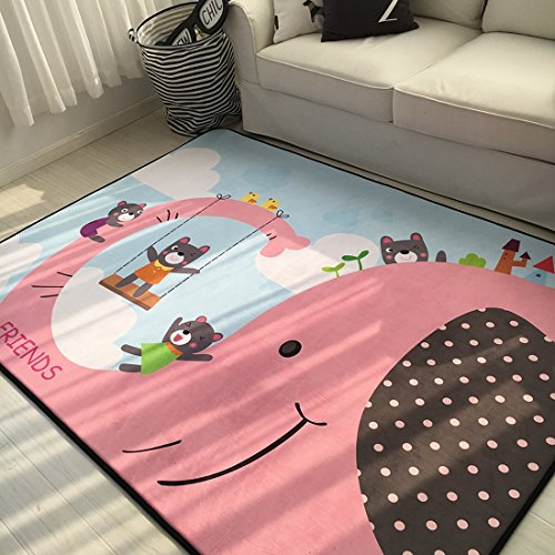 Cotton Playmat - Cusphorn Modern Style Baby Play Mat for Floor, 59 x 78 Inches Reversible Thick, Extra Large Cotton Playmat For Boys and Girls