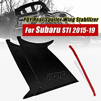 G-PLUS Performance Rear Spoiler Wing Stabilizer 2PCS for Subaru Impreza WRX STI Sedan 2015 2016 2017 2018 Spoiler Wing Stiffi Support Black