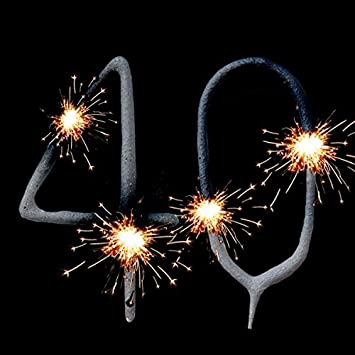 FANCYDRESSCOZ Geburtstagsfee Sparklers Set For 40th Birthday Or Ruby Wedding Anniversary Cake Decoration Fooddeko