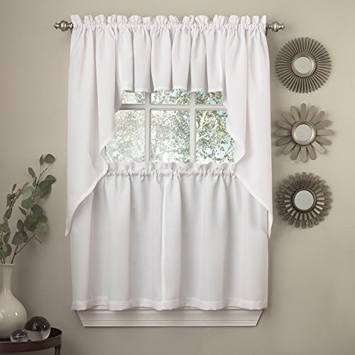 Sweet Home Collection 5 Pc Kitchen Curtain Valance Swag Choice 36